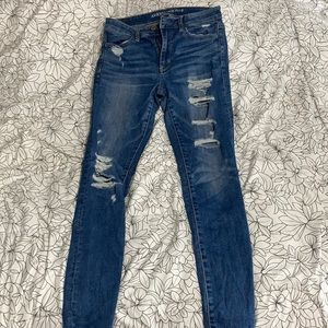 Blue American eagle ripped jeans